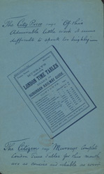 Advert for Murray's Timetables, reverse side